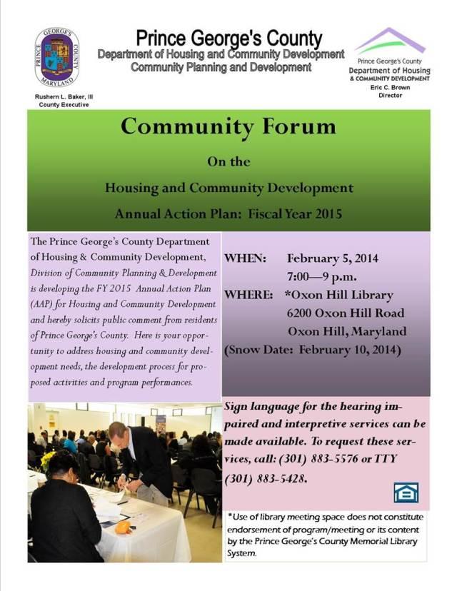 Community Forum 2-5-14