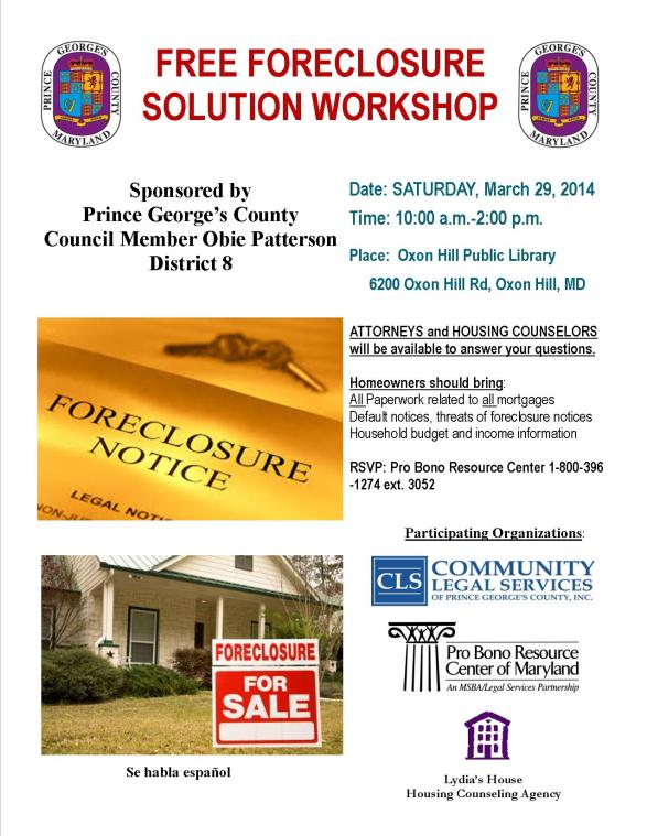 Foreclosure Workshop Mar 2014 Flyer 1