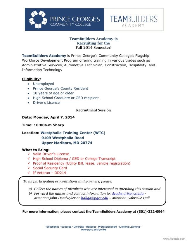 TeamBuilders Academy Fall 2014_Recruitment Flyer  - 4_7_14_1