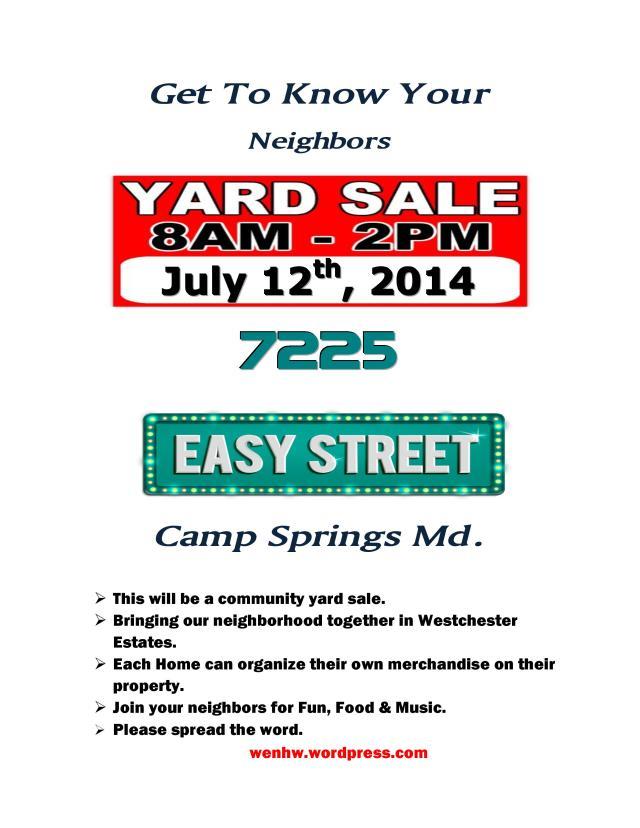 Easy Street Community Yard Sale Final