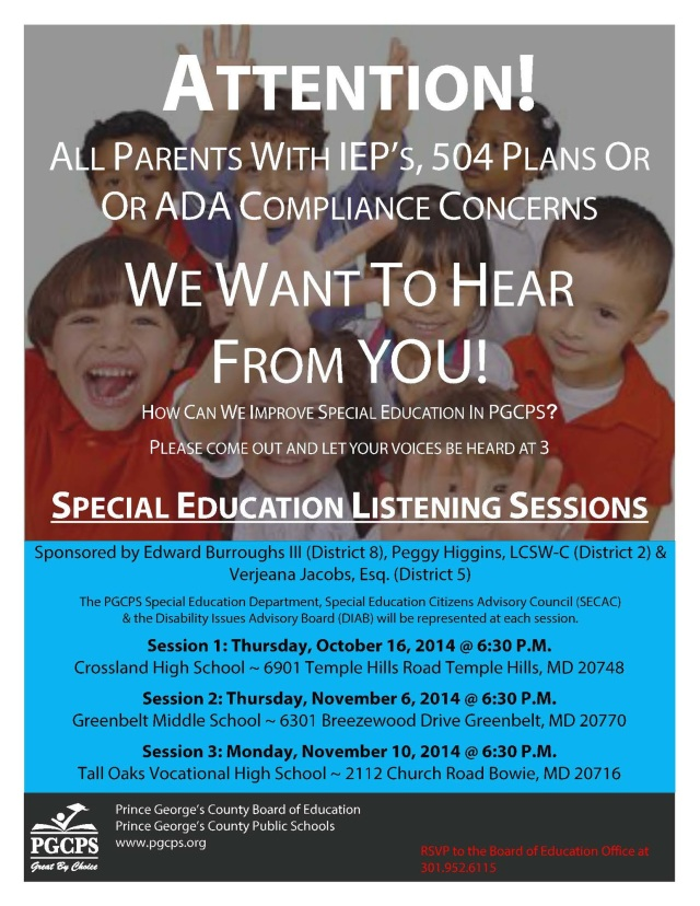Special Ed. Listening Sessions