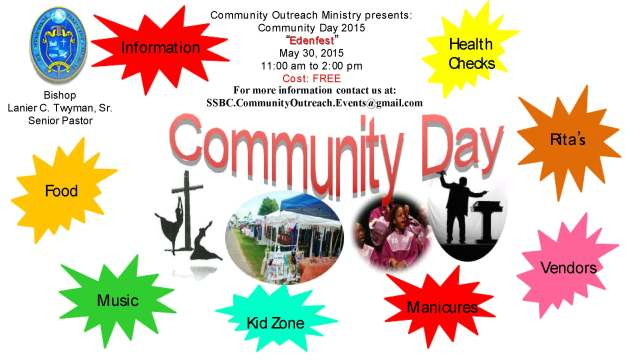 SSBC Community Day 2015 Flyer