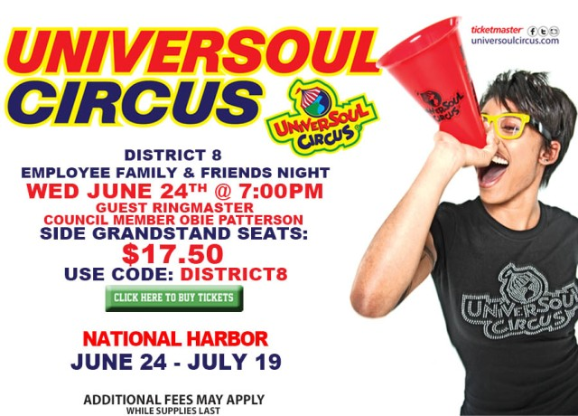 UniverSoul Circus District 8 Night Flyer