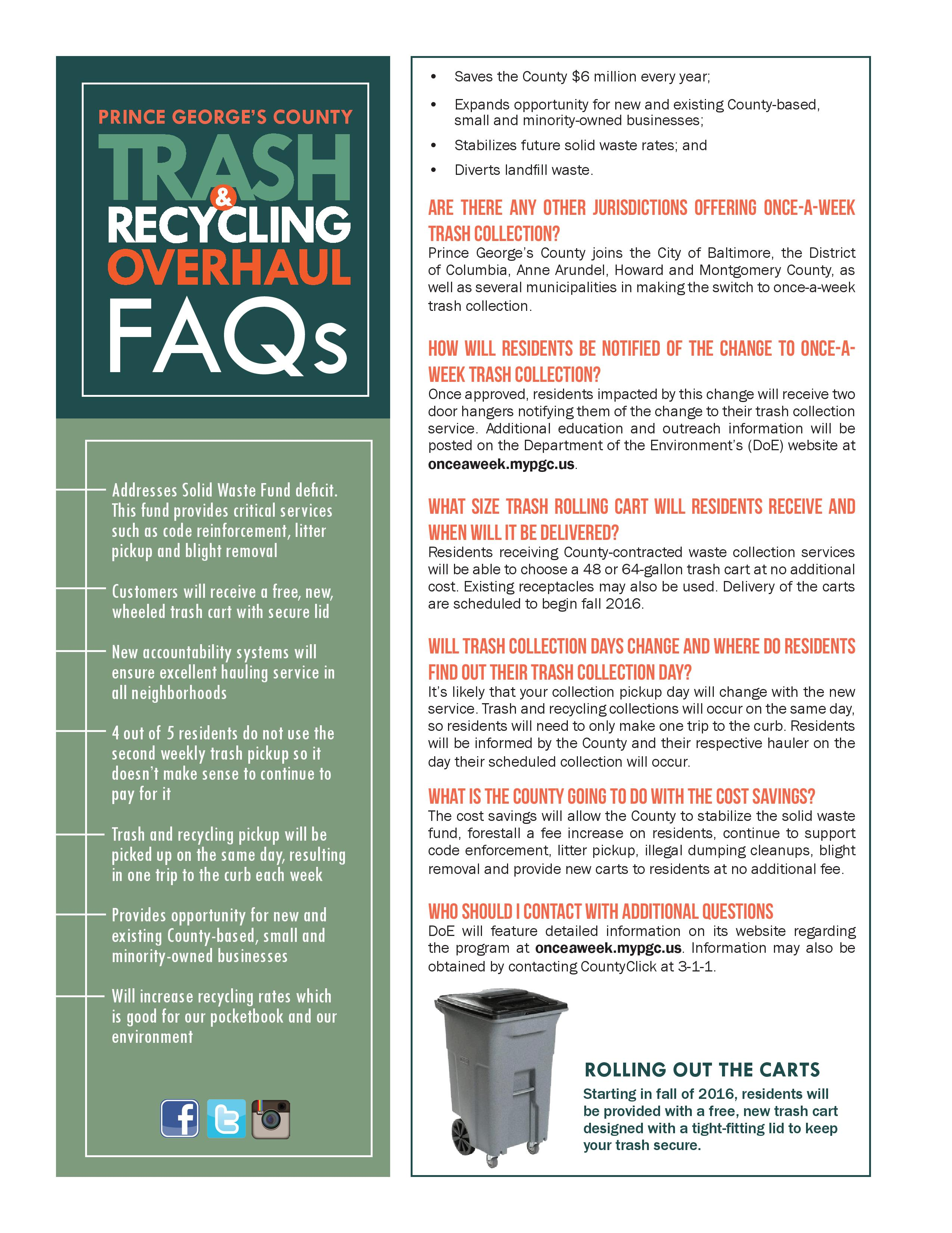 Prince George's County Trash & Recycling Overhaul | Camp Springs