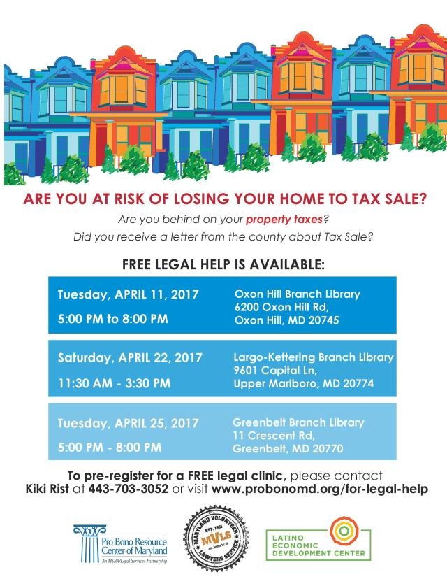 PG County  Flyer - Tax Sale Clinics 2017-page-001.jpg