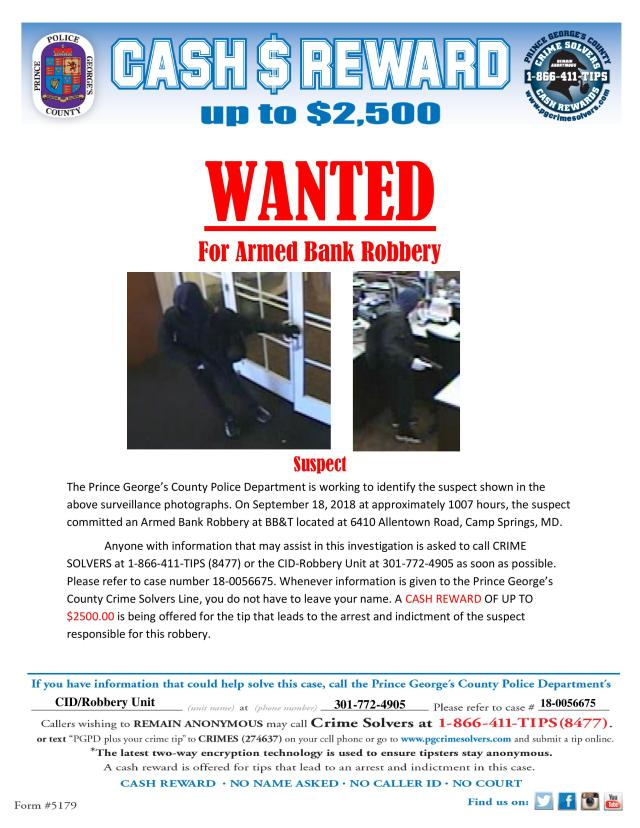 Crime Solvers Reward Flyer 18-0056675 BB&T Armed Bank Robbery-page-001.jpg
