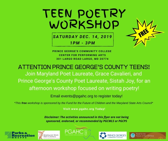 MD State Poet Laureate & PG Poet   Laureate Joint Teen Workshop - 12-14-2019.jpg