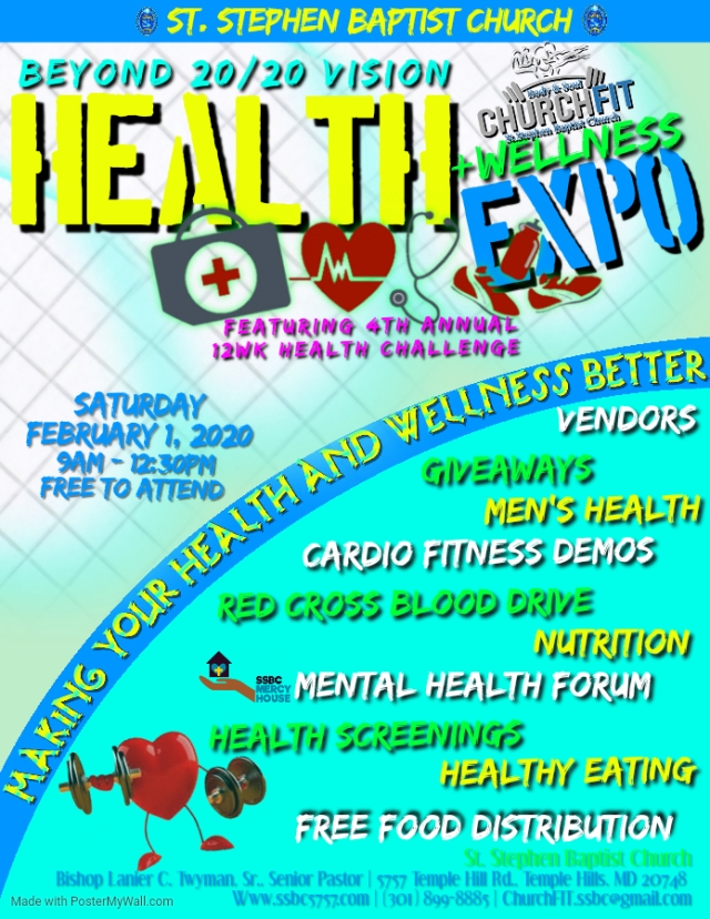 Church Fit and MERCY House Ministry Wellness Expo February 1, 2020