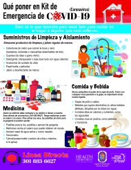 COVID Home Care Kit Spanish