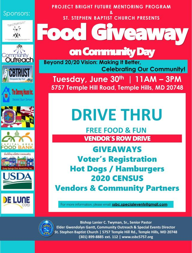 Community Day Fun Drive Thru June 30 2020 St. Stephen Baptist Church-page-001