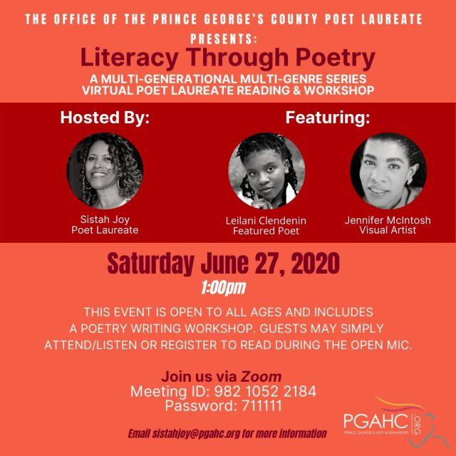 Poet Laureate - Literacy Through Poetry --- 6-27-2020