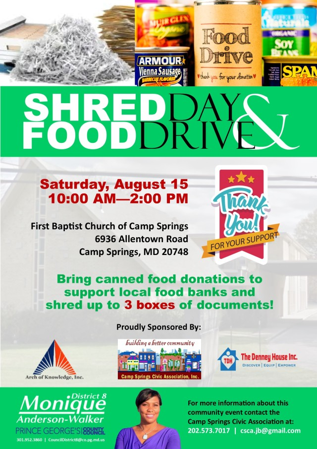 Camp Springs Shred Day Flyer